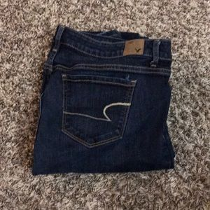 American Eagle Dark Washed Skinny Jeans size 12